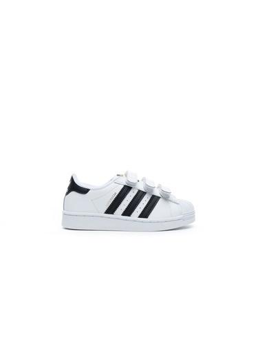 adidas Unisex Çocuk Superstar Sneakers EF4838.Beyaz Beyaz